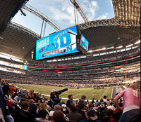 Making 3D out of 2D on a very big screen at Cowboy Stadium.