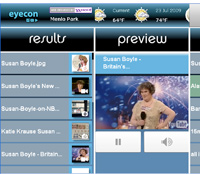 The Eyecon user interface