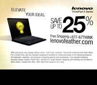 Three permutations of targeted TV ads from Lenovo
